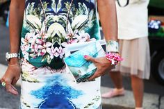 mirrored tropical prints