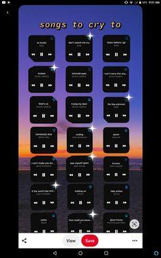 Music X, Music Mood, Mood Songs, Music Songs, Song Cry, Songs To Sing, Dance Playlist, Heartbreak Songs, Throwback Songs