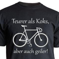"Nukular T-Shirt Motiv ""Teurer als Koks"" Fixie, Rennrad, Radsport Fun Trikot Bike"