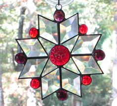 Stained Glass Suncatcher Star with by CartersStainedGlass on Etsy