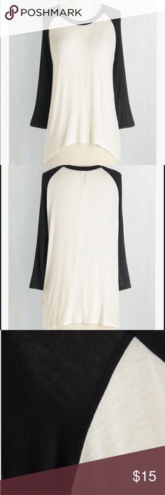 Modcloth baseball tee NWOT Sheer type material- nice and airy for spring! Tops Tees - Long Sleeve