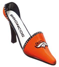 Denver Broncos Decorative Shoe Wine Bottle Holder