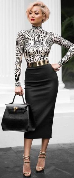 #summer #chic #feminine #style | Black and White