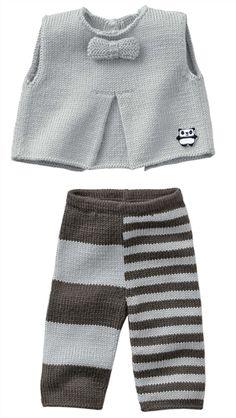 Bergere de France Tank Top, Pants & Bootees Pattern