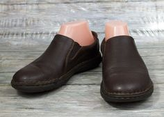 Born B.O.C. Loafers Womens Size 7 M Solid Brown Leather Slip On Shoes #Brn #LoafersMoccasins #Casual