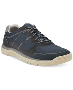 Clarks Mens Cloud Steppers Votta Edge Sneaker  Blue 105W