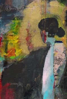 A New Woman abstract figurative painting original wall paper art. $75.00, via Etsy.