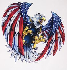 American Flag Angry Attack Eagle Decal Sticker Sizes to fit Cooler Yeti Cup, Golf Cart hood or sides Corn Hole Board – Haircut Trends For Men and Womens – TrendPin American Flag Decal, American Flag Eagle, American Flag Tattoos, Patriotic Pictures, Eagle Pictures, Bald Eagle Tattoos, Tattoo No Peito, Eagle Drawing, Eagle Art
