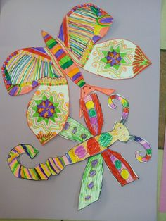 "Студия изобразительного искусства ""МАТИСС"" | VK 2nd Grade Art, Elementary Art, Art Lessons, Insects, Classroom, Ideas, Color Art Lessons, Class Room, Art Education"