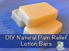 DIY Pain Relief Lotion Bars - My natural version of IcyHot, this natural homemade lotion bar uses ingredients like arnica and essential oils to soothe sore muscles and aching backs, as well as speed healing.