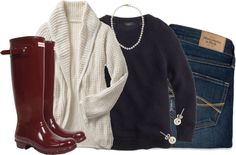 Snow Day Outfit Ideas{Found on ClassyCathleen}