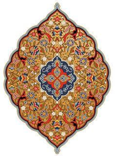 Persian Wallpaper Medallion, from the Persian Roomset under Victorian Orientalism at Bradbury & Bradbury