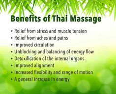 thai massage benefits - Google Search