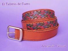 Cinturon de cuero y tireta hecho a mano palomacomplementos@gmail.com