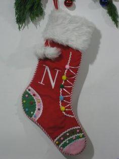 Kous van Kerstmis ( Rode onderkant grafische sneeuwvlok )
