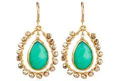 Emerald Doorknocker Earrings
