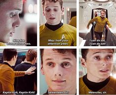 Chekov. Oh how I love you and your accent and cuteness. :)