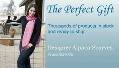 Luxurious Alpaca Apparel On Sale  Pete from Maine said:  The customer service from Alpaca direct is the best, they were pateient and helpful, and went way beyond what could have been expected. Great product, great company, great people.