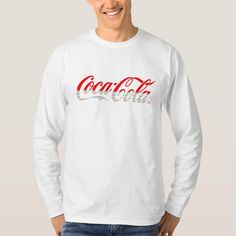 Upgrade your style with Coca Cola t-shirts from Zazzle! Browse through different shirt styles and colors. Search for your new favorite t-shirt today! Coca Cola Gifts, Coca Cola Shop, Big Johnson T Shirts, Coca Cola Merchandise, Red And White Stripes, Fitness Models, Tee Shirts, Sweatshirts, Long Sleeve