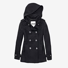 Want one in red, black&a soft but brightnyellow just diff slight diff coat as I want a coat with a hood Trench Coat Style, Trench Jacket, Sweater Jacket, Spring Summer Fashion, Autumn Winter Fashion, Winter Outfits, Cool Outfits, Winter Clothes, Love Fashion