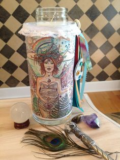 Gais's Magical SeedsArt Candle  Mother by DreamALittleDesigns Mother Earth, Magical, Goddess Art, Original Art Prints, Moon Goddess, Divine Feminine, Art, Seed Art, Original Artwork