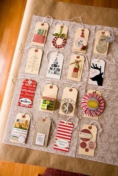 Diff. ways to design an Xmas Tag. A little inspiration for the ones i plan to make.