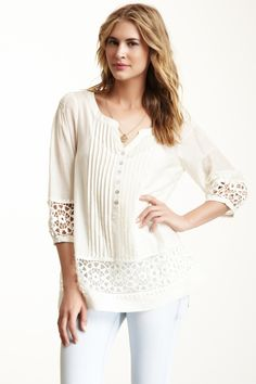 Crochet Túnica de seda Mix