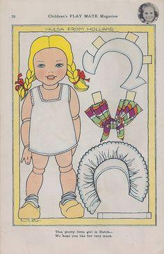 (⑅ ॣ•͈ᴗ•͈ ॣ)♡ ✄Dutch Girl Paper Doll by shelece, via Flickr