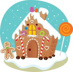 Gingerbread House to draw.