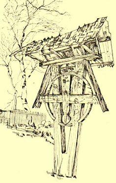 Atelierul de arhitectură Liliana Chiaburu: Troiţe vechi de lemn (2) Wooden Crosses, Christian Art, Cross Pendant, Spirituality, Traditional, Case, Handmade, Pendants, Inspiration