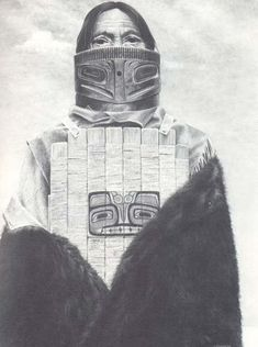 Tlingit man with armour
