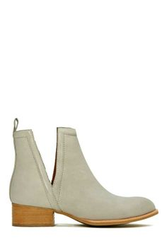 Jeffrey Campbell Muskrat Leather Boot - Grey