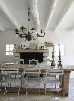 vintage rustic dining room