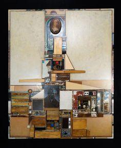 PETER STANZIALE | Mexican/American MODERNIST ART COLLAGE 'SECRET HAUNTS' 79 #Modernist