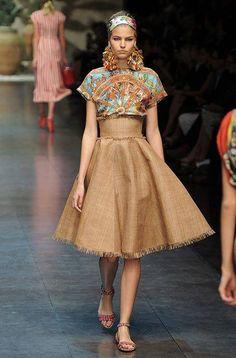 Dolce & Gabbana spring/summer 13 :: Harper's BAZAAR