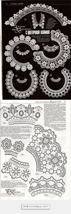 Crochet Lace Collars with their charts. Duplet Nr 149, p12-13 ~~ http://www.liveinternet.ru/users/cimona2/post286387692/