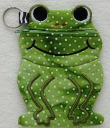 In The Hoop :: Bags, Cases, Purses & Wallets :: Frog Zipper Case - Embroidery Garden In the Hoop Machine Embroidery Designs