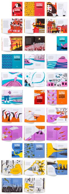"""There is an idea that children's books would be more… """"free"""". By freedom is meant that of the designer, who would feel entitled to… Livro infantil: fetiche dos designers? Graphic Design Magazine, Magazine Layout Design, Book Design Layout, Magazine Layouts, Business And Advertising, Design Editorial, Editorial Layout, Black And White Magazine, Magazine Layout Inspiration"""