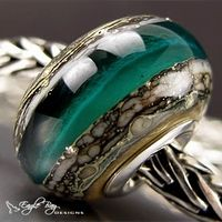 (not a troll bead but very pretty)Ancient River Glass by Eagle Bay Designs
