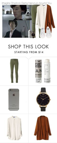 """""""Imagine Sherlock Being Nervous Around You"""" by fandomimagineshere ❤ liked on Polyvore featuring J Brand, Korres, Olivia Burton, adidas and kitchen"""