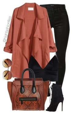 """""""Rust"""" by highfashionfiles ❤ liked on Polyvore featuring J Brand, H&M, T By Al..."""