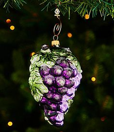 Trimsetter Cheers Collection Grape Cluster Ornament #Dillards