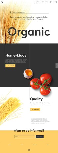 Organic Landing Page Ui design and animation concept by Sergey Valiukh @ Tubik Studio