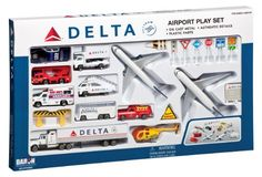 Delta 25pc. Airport Play Set. Read more at http://www.toys-zone.com/delta-25pc-airport-play-set/