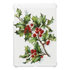 Holly berry 001 iPad mini cases