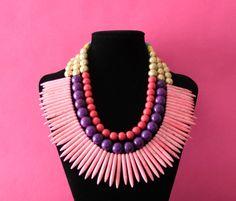 Pretty neon necklace.