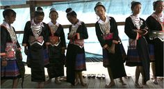 Hmong in traditional clothing in Cacao French Guiana.