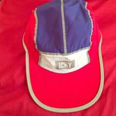 ICNY STRAPBACK COLORBLOCK HAT Reflective. Red. White. Blue. Comfortable. Only worn twice ICNY Accessories Hats