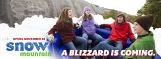 Snow Mountain opens on Thanksgiving Day, November 22, 2012!