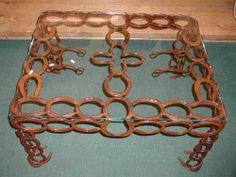 Horseshoe Art Ideas | Western Decor Horseshoe Furniture